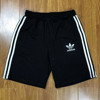 Adidas three-leaf clover 4 colors 3 bars god pants classic men and women love outdoor leisure sports loose five point pants