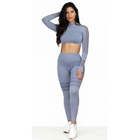 New Lines Gray Two-Piece Activewear Set