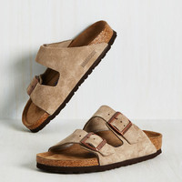 Strappy Camper Sandal in Tan Suede - Narrow | Mod Retro Vintage Sandals | ModCloth.com