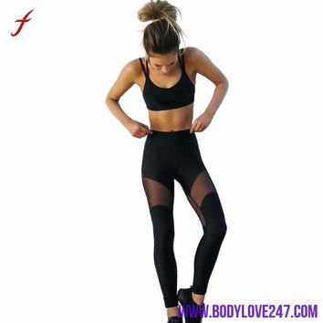 Two Piece Set Women Workout Fitness Halter Top /Leggings