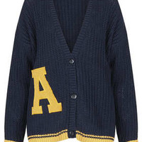 Knitted 'A' Motif Cardi - Knitwear  - Clothing