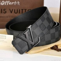 LOUIS VUITTON GENUINE LEATHER BELT MENS WOMENS BELTS
