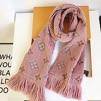 LV Trending Ladies Stylish Embroider Pink Silk Scarf Shawl I-TMWJ-XDH