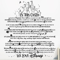Disney Wall Quote - Disney Inspired Wall Decal, Disney Quote, Nursery Decal, Disney Decor, Wall Decal Quotes, Disney Decal