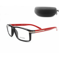 Prada Women Edgy Optical Clear Lens Fashion Brand Designer Eyeglasses Glasses
