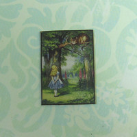 Dollhouse Miniature Small Alice in Wonderland Art Panel