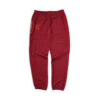 Kanye West Unisex Jogger Pant Red SEASON 4 Star Pants For Jogging Exercise and Fitness For Man Woman