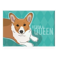 Pop Doggie Fit for a Queen Pembroke Welsh Corgi Fridge Magnet