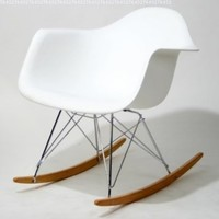 Baxton Studio Letterio White Cradle Chair