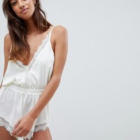 Wolf & Whistle Scalloped Ivory Body at asos.com