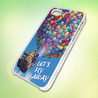 pixar up lets flay away HP029 Design - Cover For iPhone 4, iPhone 4S, iPhone 5 -  Black, White or Clear Apple Case