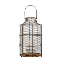 Lazy Susan Chicken wire Hurricane - Small.  - 594040