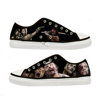 The Walking Dead Zombie woman canvas shoes - Size : US 5 6 7 8 9 EUR 36 37 38 39 40