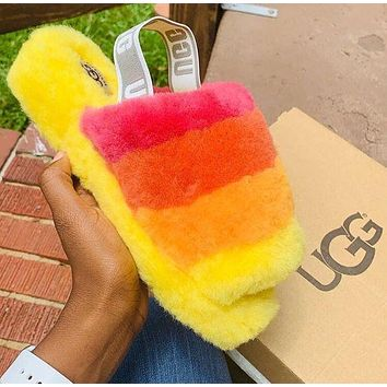 UGG hot sale fashion ladies plush slippers snow boots Shoes