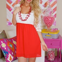 Sweet on Sugar Dress - Red