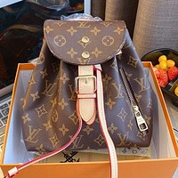 LV Louis Vuitton Classic printed women's shopping mini backpack