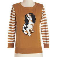 ModCloth Critters Mid-length Long Sleeve Dog Park Party Sweater