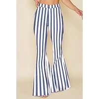 Laguna Stripe Bell Bottoms (Blue)
