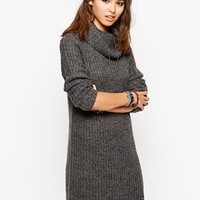 Only Roll Neck Sweater Dress In Marl
