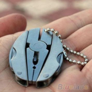 Pocket Keychain Pliers Knive Screwdriver