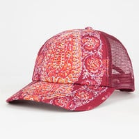 Billabong Joshua Tree Womens Trucker Hat Red Combo One Size For Women 26739134901