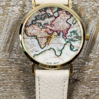 World of Time Watch in Ivory