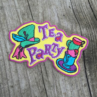 iron on ~ mad tea party patch ~ alice in wonderland