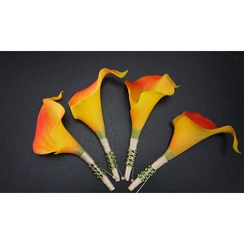 Pack of 4 Boutonnieres