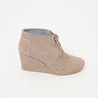Toms - Desert Wedge with Embossed Wedge