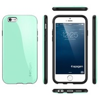 iPhone 6 Case, Spigen [Capella] Anti-Shock [Mint] Advanced Surround Anti-Shock Slim TPU Case for iPhone 6 (2014) - Mint (SGP11049)