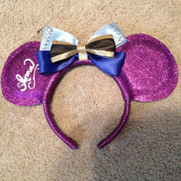 Anna from disneys frozen inspired mickey ears