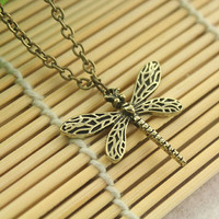Game of thrones jewelry --Sansa Stark retro dragonfly necklace