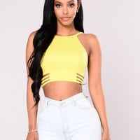 Stay Jealous Crop Top - Lime