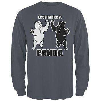 Let's Make A Panda Funny Mens Long Sleeve T Shirt