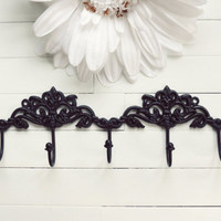 Black Chic Wall Hook / French Country Wall Hook / Black Home Decor / Hook / Key Hanger / Coat Hook / Organize / Ornate /
