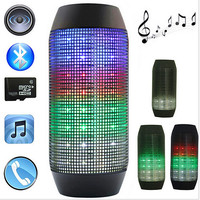 Pulse Portable Wireless Bluetooth Speaker Colorful 360 LED lights Support U-disck and TF card Outdoor Speaker+free shipping