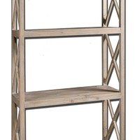 Stratford Rustic Reclaimed Wood Etagere by Uttermost