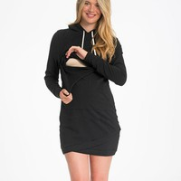 Bun Cozy Nursing Hoodie Dress