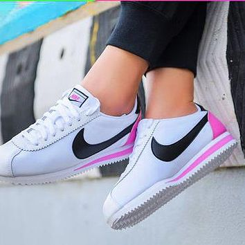Nike Classic Cortez Forrest Sports Shoes Classic Shoes Leisure Sneakers White pink tail