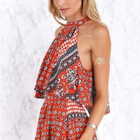 Mikayla Two Piece Set Red