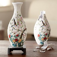 Birds and Flowers 3-D Puzzle Vase