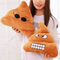 Emoji Pillow Soft Cushion Cotton Bedding Funny Pillow Tricky Toys Bolster Christmas Gifts