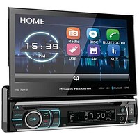 """POWER ACOUSTIK(R) PD-721B 7"""" Incite Single-DIN In-Dash Motorized LCD Touchscreen DVD Receiver with Detachable Face & Bluetooth"""