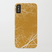 Branches Impressions on Yellow by ARTbyJWP