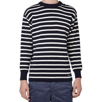 Armor-Lux 2915 Fouesnant Raye Wool Striped Mariner Crew Knit