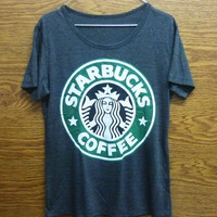 Starbucks tshirt size S/M/L/XL plus size women t shirt/ shirt/ short sleeve/ crew neck t shirt