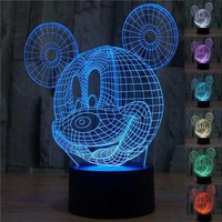Mickey Mouse 3D Lamp