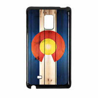 Colorado State Flag Wood Design Samsung Galaxy Note Edge Case