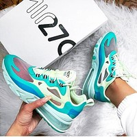 NIKE AIR MAX 270 REACT Fashion Women Men Air Cushion Sport Running Shoes Sneakers