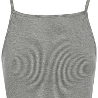 Ribbed Crop Top - Topshop